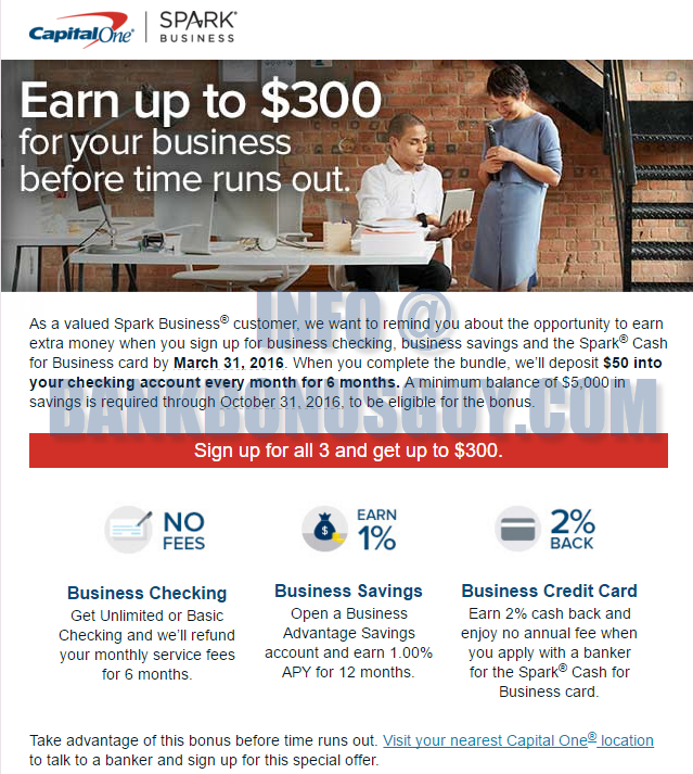 Capital One Business Checking Review 800 Promotion Bank Deal Guy