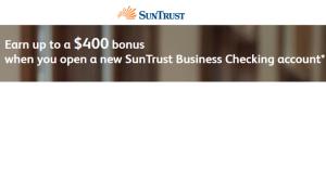 SunTrust Business Checking Promotions Review: $400 Bonus!
