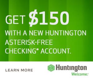 Huntington Asterisk Free Checking Bonus Coupon Bonus