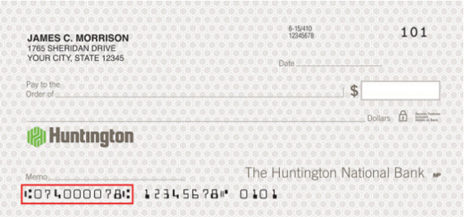 Huntington Bank Routing Number Check - Bank Deal Guy