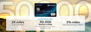 Barclaycard Arrival Plus 50,000 Bonus Miles ($525 Value)