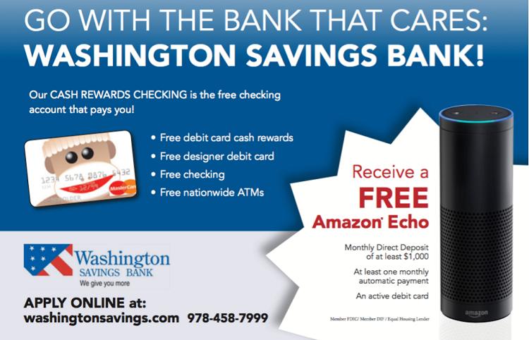 Washington Savings Bank Amazon Echo Bonus