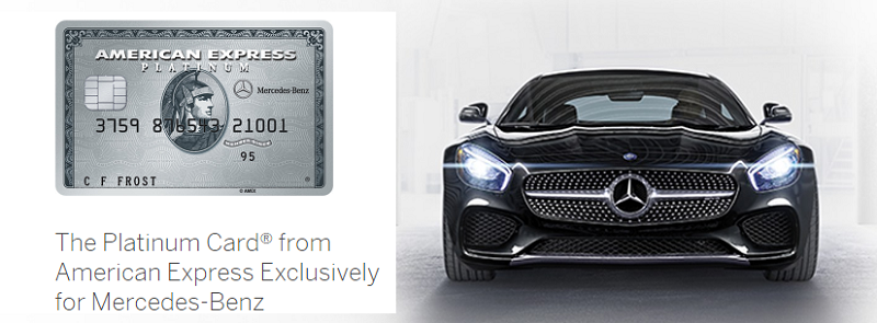The platinum card from american express exclusively for for Mercedes benz platinum amex