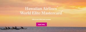Hawaiian Airlines World Elite Card 50,000 Bonus Miles + One-Time 50% Off Companion Discount