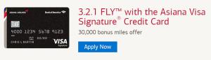 Asiana Visa Signature Credit Card 30,000 Bonus Miles + Receive Annual 10,000 Bonus Miles Certificate