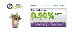 Bank5Connect High-Interest Savings Account: Earn 0.90% APY Rate [Nationwide]