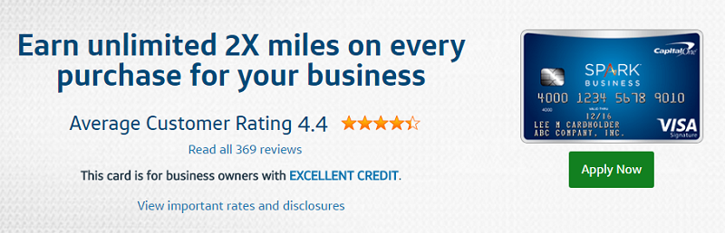 Capital one spark miles for business credit card bonus bank deal guy capital one spark miles for business credit card reheart Gallery