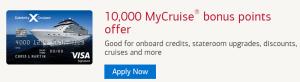 Celebrity Cruises Visa Signature Credit Card 10,000 MyCruise Bonus Points + $300 Discount Off a Future Cruise