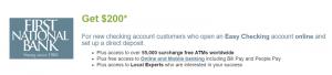 First National Bank $200 Checking Bonus [UT]