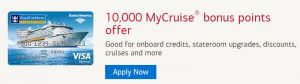 Royal Caribbean Visa Signature Credit Card 10,000 MyCruise Bonus Points + Airfare Discount