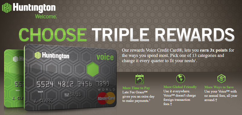 The Voice Credit Card From Huntington Review Earn Triple