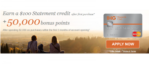 IHG Rewards Club Select Credit Card 50,000 Points Promotion + Receive $100 Statement Credit (Could This Card Be Discontinued?)