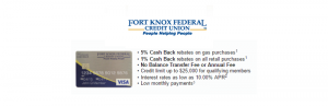 Fort Knox Credit Union Visa Platinum Card Review: Earn 5% Cash Back On All Gas Purchases