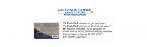 Fort Knox Federal Credit Union Platinum Card