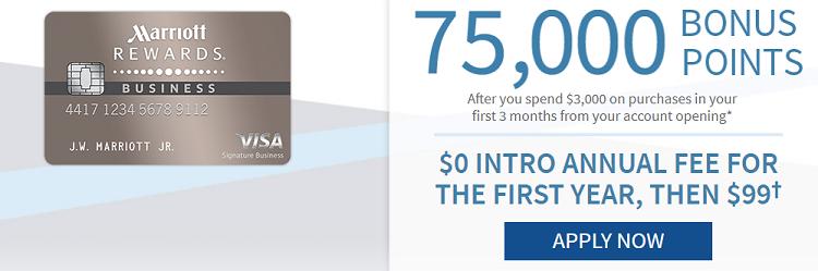 Marriott Rewards Premier Business Credit Card 75000 Bonus Points