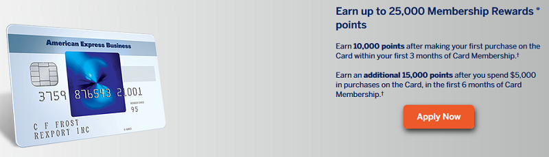 American Express Blue for Business Credit Card 25 000