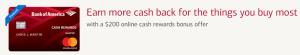 Bank of America Cash Reward Credit Card $200 Cash Rewards Bonus + Up To 3% Cashback
