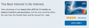 Citi Simplicity Card Review: Lowest Intro of 0% APR for 21 Months