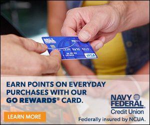 Navy Federal Credit Union GO REWARDS Card 20,000 Bonus Points + No Annual Fee + 3X Points On Restaurants