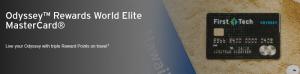 Odyssey Rewards World Elite MasterCard 30,000 Points Bonus ($300 Value) + No Annual Fee First Year