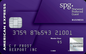 Starwood Preferred Guest American Express Business Card $200 Statement Credit