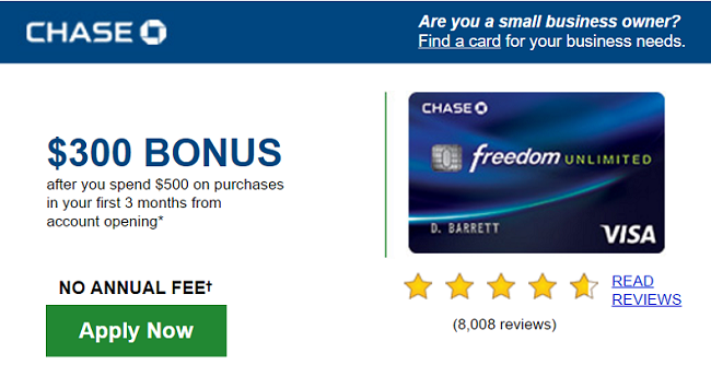 Chase Freedom Unlimited Card 300 Offer Unlimited 1 5