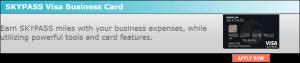 SKYPASS Business Card 10,000 Miles Bonus + 2,000 Bonus Miles at Renewal