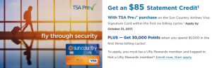 Sun Country Airlines Visa Signature Card 40,000 Points Bonus + $85 Statement Credit + Annual Fee waived First Year (Limited Time Offer)