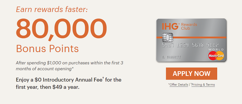 Chase IHG Rewards Club Select Credit Card 80,000 Bonus Offer + 5,000 Bonus Points When Adding Your First Authorized User + Platinum Elite Travel Benefits