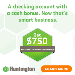 Huntington Bank $750 Business Checking Bonus [IN, KY, MI, OH, PA, WV, IL, WI]