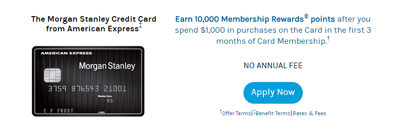 The Morgan Stanley Credit Card from American Express