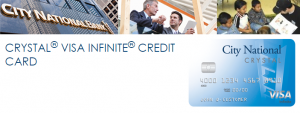 City National Bank Crystal Visa Infinite Card 75,000 Points Bonus [CA, GA, NV, NY, TN, TX] (In-Branch)