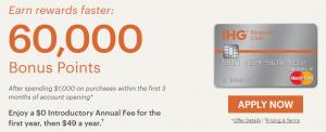 IHG Rewards Club Select Credit Card 60,000 Bonus Points + 5,000 Bonus Points When Adding Your First Authorized User