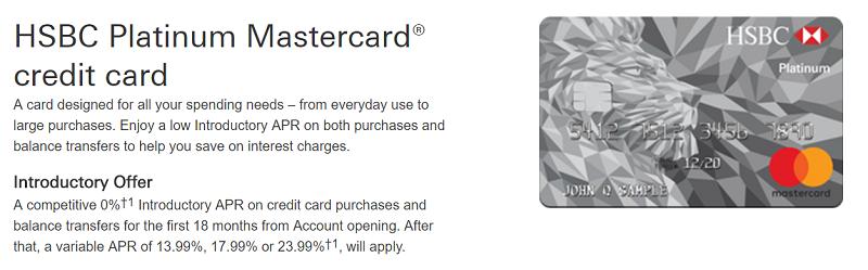 hsbc platinum mastercard card review 0 intro apr for 18 months. Black Bedroom Furniture Sets. Home Design Ideas