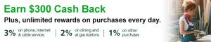 TD Business Solutions Credit Card $300 Cash Back Bonus + Up to 3% Cash Back + No Annual Fee