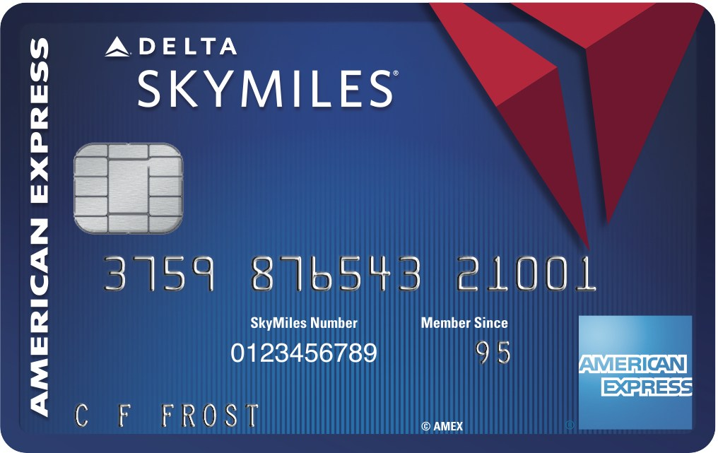 delta blue skymiles credit card from american express