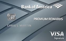 Bank of America Premium Rewards Credit Card 50,000 Bonus Points + $200 Travel Statement Credits