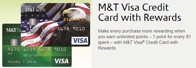 m t visa credit card with rewards 10 000 bonus points no annual fee. Black Bedroom Furniture Sets. Home Design Ideas