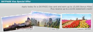 SkyBlue SKYPASS Visa Card 15,000 SKYPASS Bonus Miles + No Annual Fee