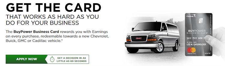 Capital One BuyPower Business Card $500 Bonus Earnings + 5% Earnings