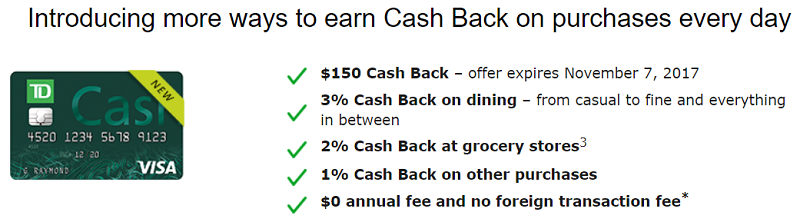 TD Cash Credit Card - Bank Deal Guy