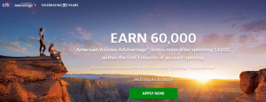 Citi AAdvantage Platinum Select World Elite MasterCard 60,000 Miles Offer + 2X Miles Back on AA Purchases + Earn 10% of Your Redeemed AAdvantage Miles Back