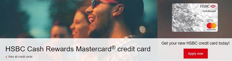 HSBC Cash Rewards Mastercard