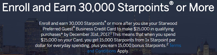 Starwood preferred guest business credit card 30000 starpoints for starwood is offering a 30000 or more starpoints bonus for existing members that spend 15000 on colourmoves