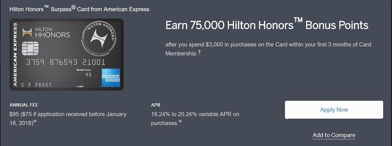 American express hilton hhonors surpass card 75000 bonus points hilton hhonors surpass card features colourmoves