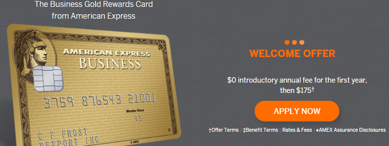 Business Gold Rewards Card From American Express 80000 Membership
