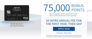 Chase Marriott Premier Credit Card 75,000 Point Bonus + 5X Points at Select Locations + Annual Fee Waived First Year