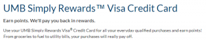 United Bank of Missouri Simply Rewards Visa Credit Card Review: 3X Points Back on Gas and Restaurant Purchases + No Annual Fee