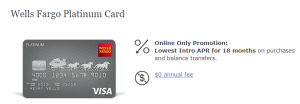 Wells Fargo Platinum Card Review: 0% APR for 18 Months on Purchases and Balance Transfers + No Annual Fee