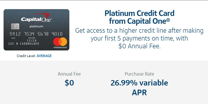 Capital One Platinum Credit Card bonus promotion offer review